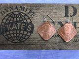 Diving Bird Copper Earrings