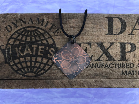5 Petal Copper Pendant