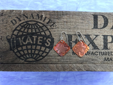 Starfish Copper Earrings