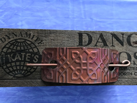 Large Celtic Link Copper Barrette