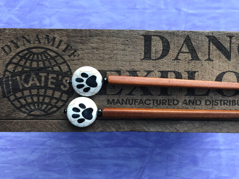 Paw Print Brown Hair Sticks