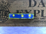 Yellow Stars on Royal Blue Enamel Barrette