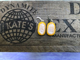 Dichroic  on Yellow Glass Earrings