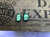 Yellowish Green Dichroic Glass Earrings