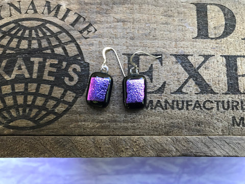 "1/2"" x 11/16"" Dichroic Glass Earrings"