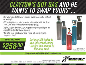 Swap a gas bottle