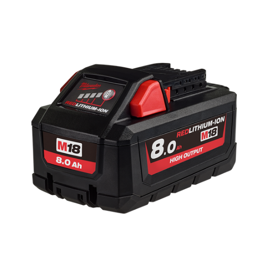 Milwaukee M18™ REDLITHIUM™-ION HIGH OUTPUT 8.0AH Battery Pack M18HB8