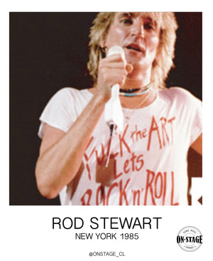 Polera Fuck The Art Lets Rock 'n' Roll (Rod Stewart)