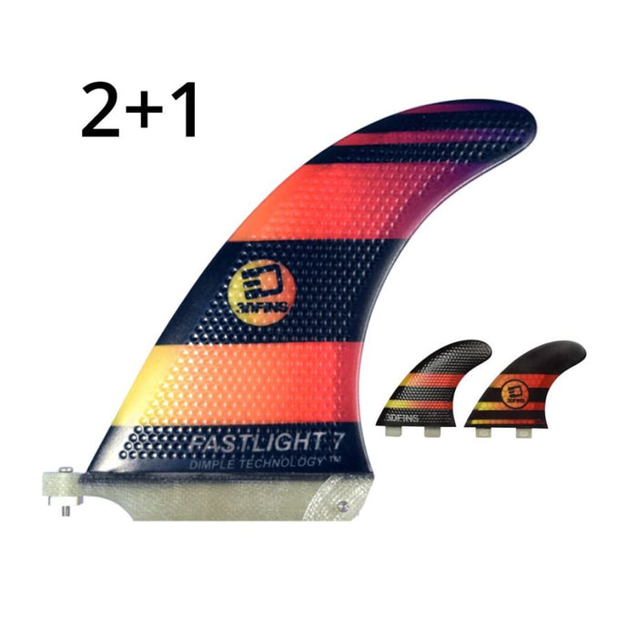 3Dfins 2+1 Large 7 Sup Fin (Dimple Technology) - 3Dfins - Sup Fins
