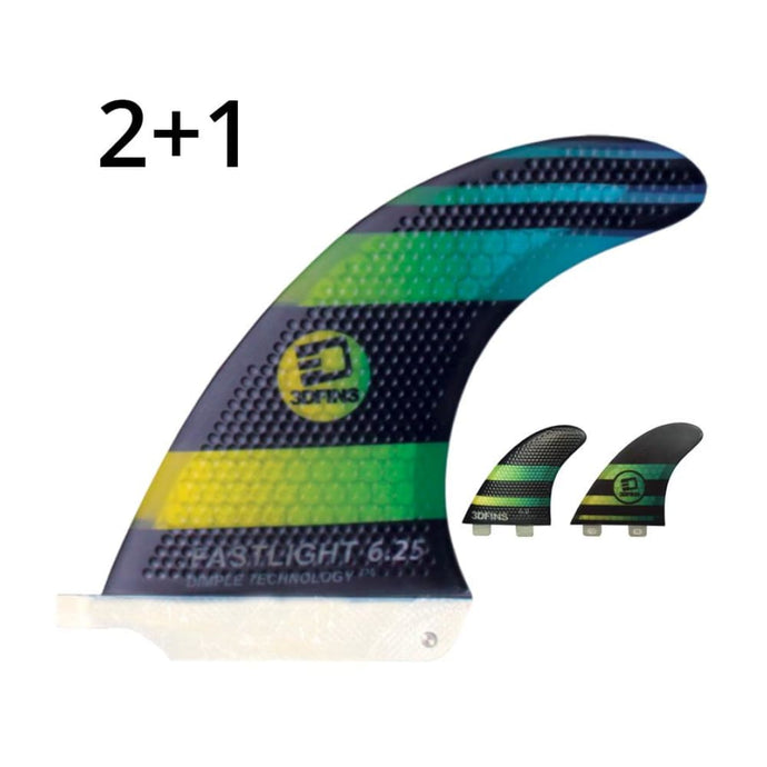 3Dfins 2+1 Medium 6.25 Sup Fin (Dimple Technology) - 3Dfins - Sup Fins