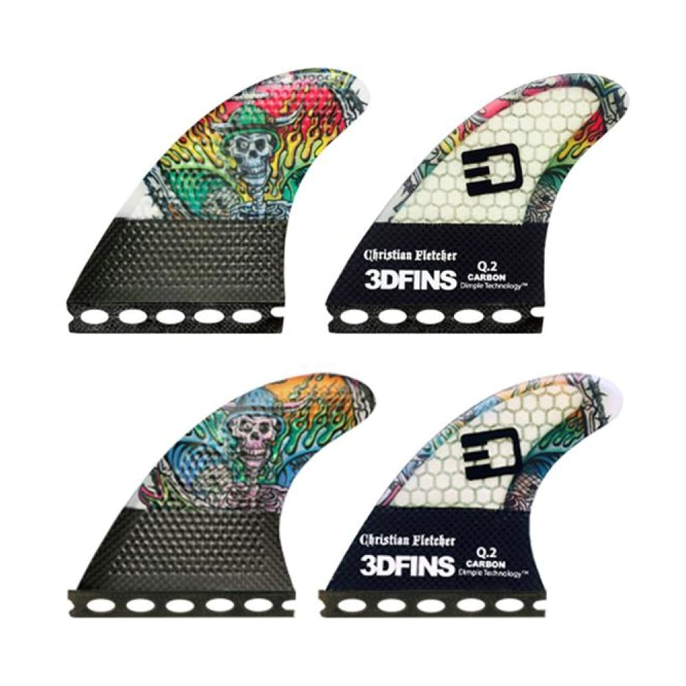 3Dfins Christian Fletcher Signature Quad Fin (Dimple Technology) - 3Dfins - Quad Fins
