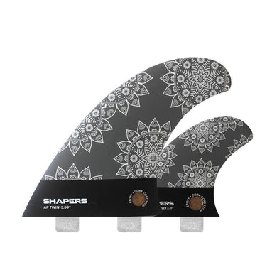 Asher Pacey: 5.59 Twin Fins - Eco-Tech (Grey + White Pattern) - Shapers - Twin Fins