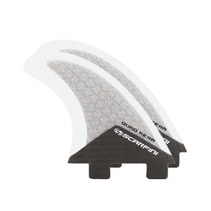 Scarfini Carbon Base Quad Rears (Grey) - Scarfini - Quad Fins