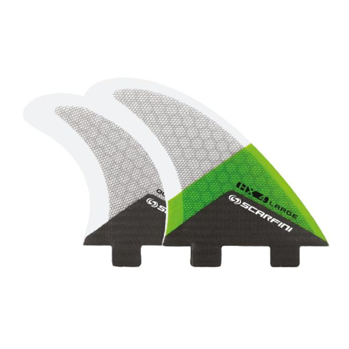 Scarfini Carbon Base Quad Set - Large (Green) - Scarfini - Quad Fins