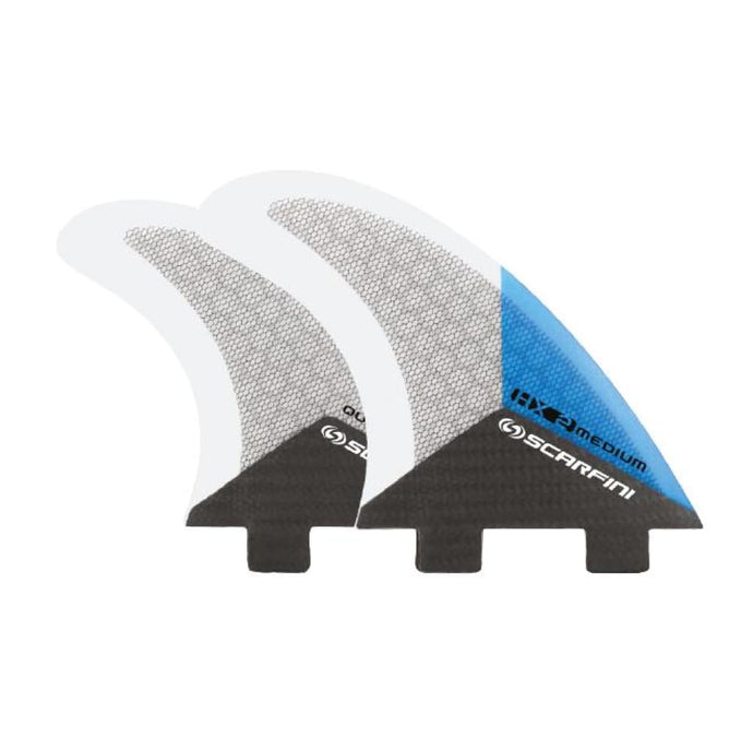 Scarfini Carbon Base Quad Set - Medium (Blue) - Scarfini - Quad Fins