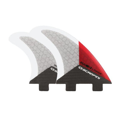 Scarfini Carbon Base Quad Set - Medium / Large (Red) - Scarfini - Quad Fins