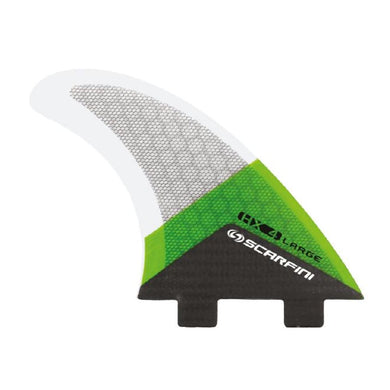 Scarfini Carbon Base Thruster Set - Large (Green) - Scarfini - Thruster Fins