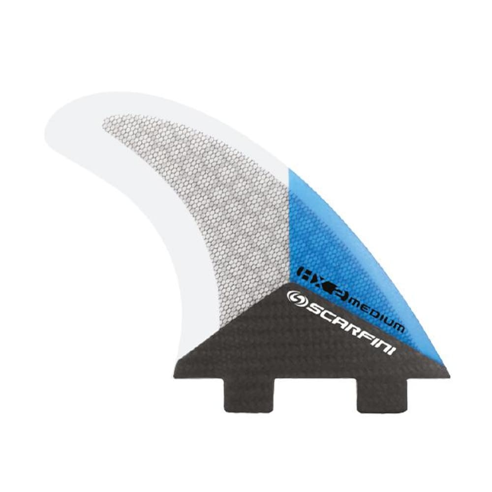 Scarfini Carbon Base Thruster Set - Medium (Blue) - Scarfini - Thruster Fins