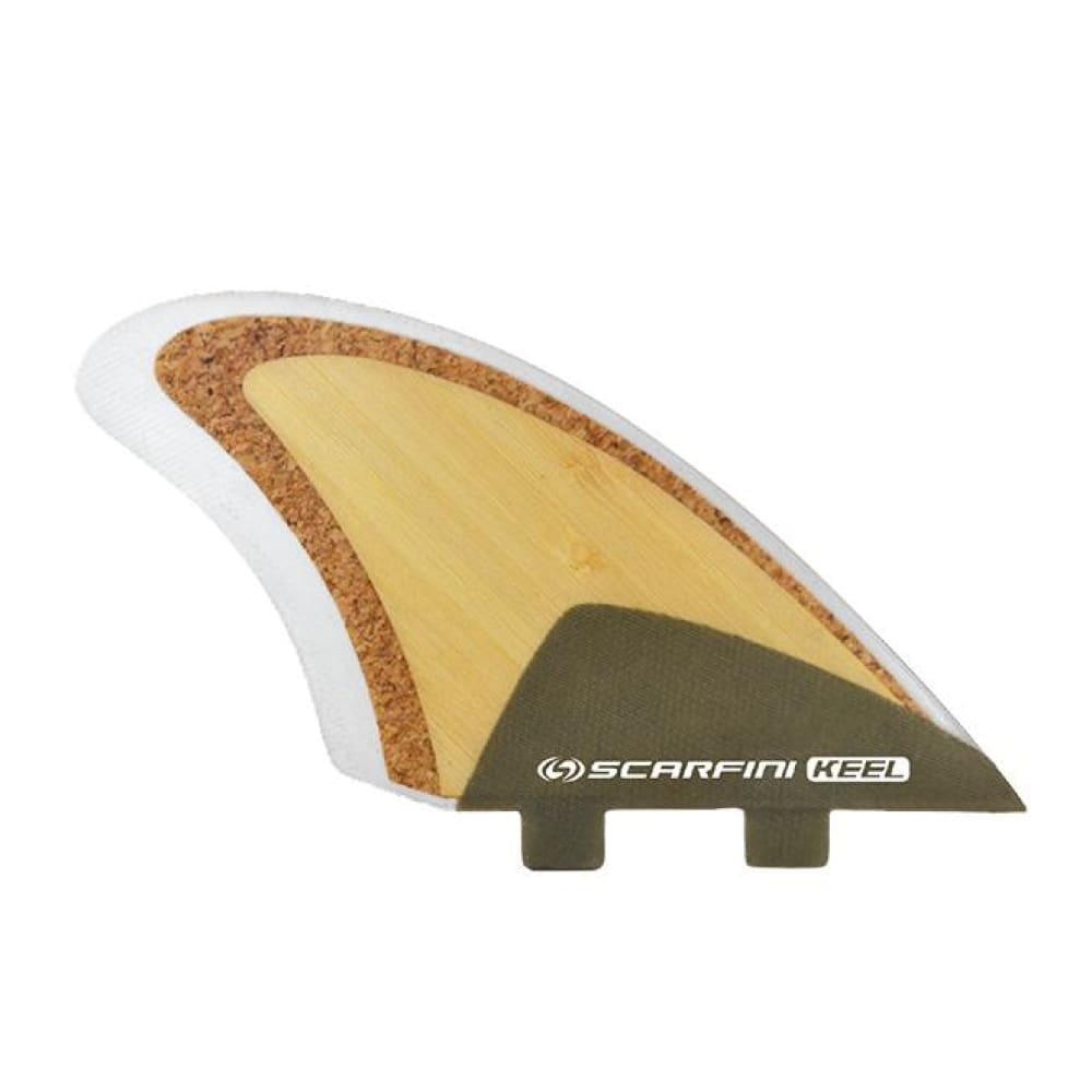 Scarfini Eco-Fin Twin Keel (Natural Wood) - Scarfini - Twin Fins