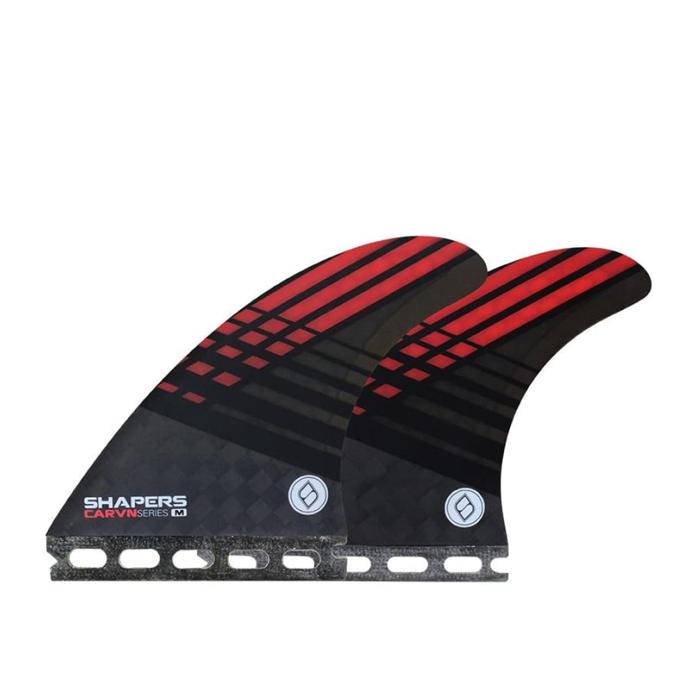 Shapers Carbon-Flare Thruster Fins - Medium (Red) - Shapers - Thruster Fins