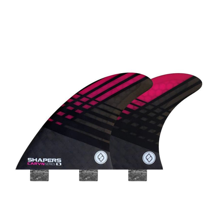 Shapers Carbon-Flare Thruster Fins - Small (Pink) - Shapers - Thruster Fins