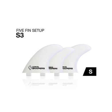 Shapers Fibre-Flex 5 Fins - Small (Natural White) - Shapers - 5 Fin
