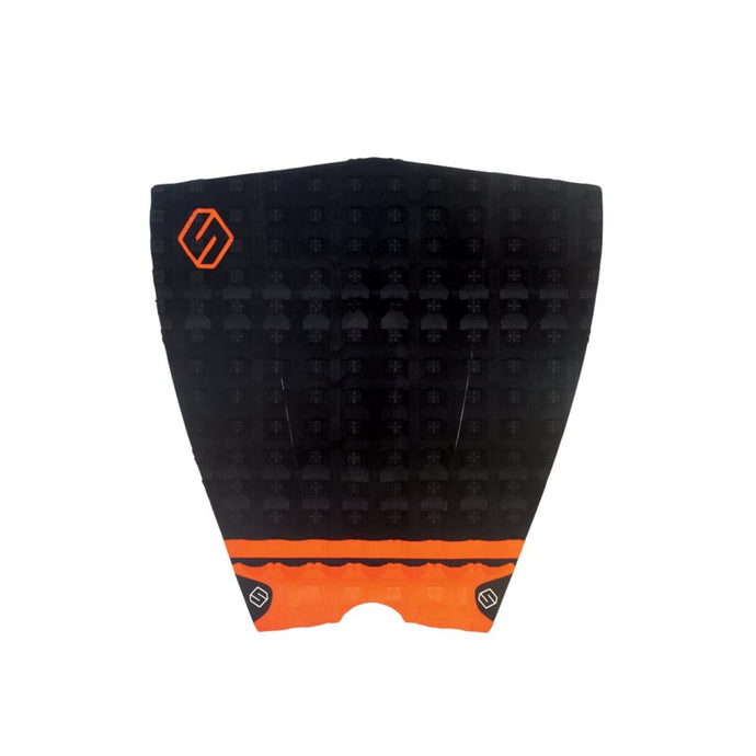 Shapers Performance Iii Tail Pad - Black / Orange (3 Piece) - Shapers - Tail Pads