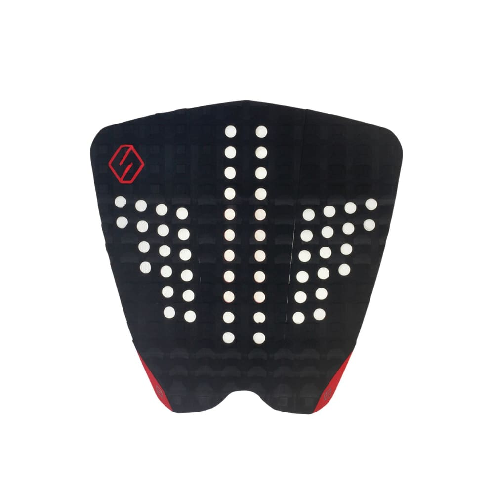 Shapers Performance Iv Tail Pad - Black / Red (3 Piece) - Shapers - Tail Pads