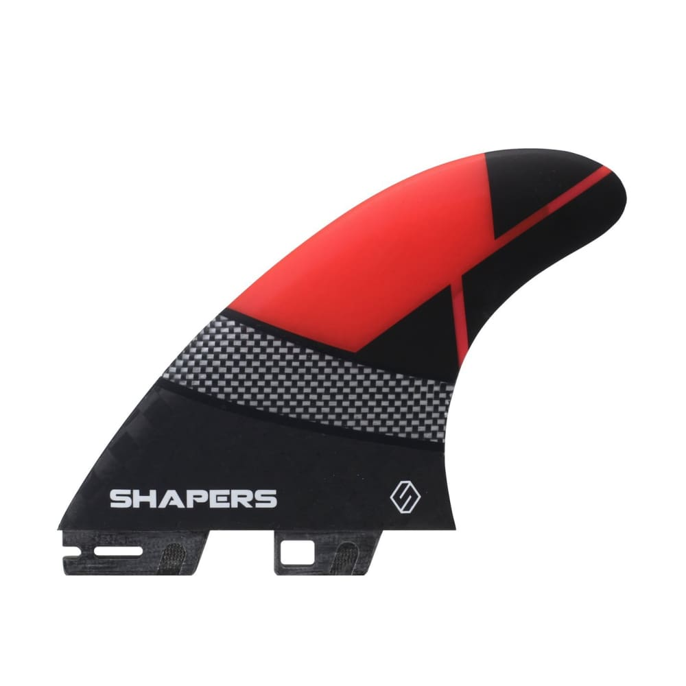 Shapers Spectrum Driver Thruster Fins - Large (Red) - Shapers - Thruster Fins