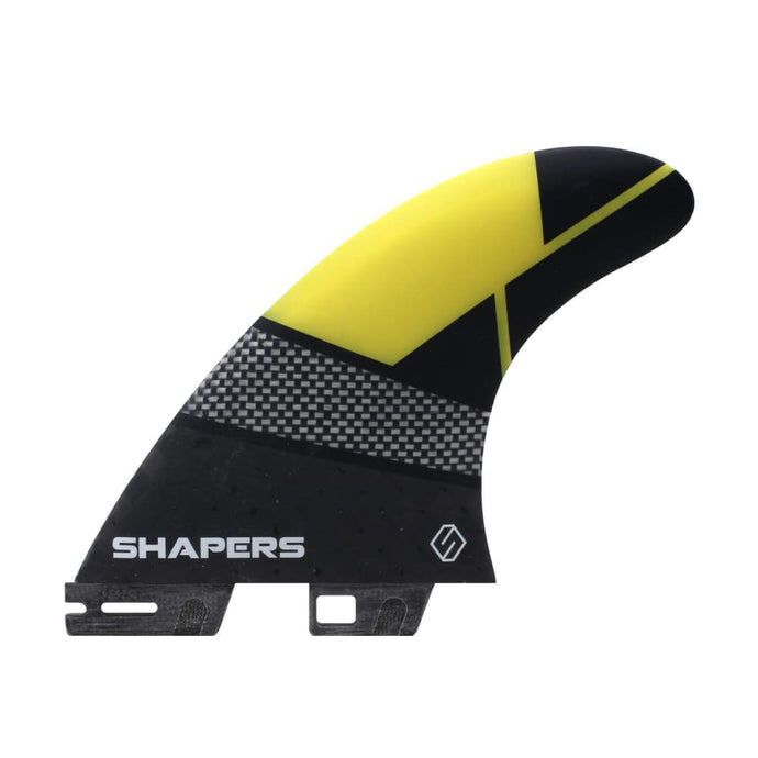 Shapers Spectrum Driver Thruster Fins - Medium (Yellow) - Shapers - Thruster Fins