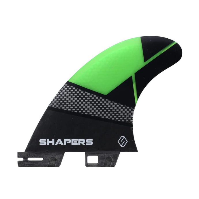Shapers Spectrum Driver Thruster Fins - Small (Green) - Shapers - Thruster Fins
