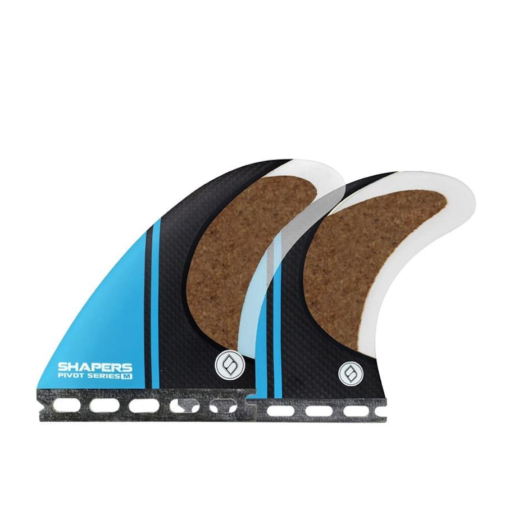 Shapers Stealth Pivot Thruster Fins - Medium (Blue) - Shapers - Thruster Fins