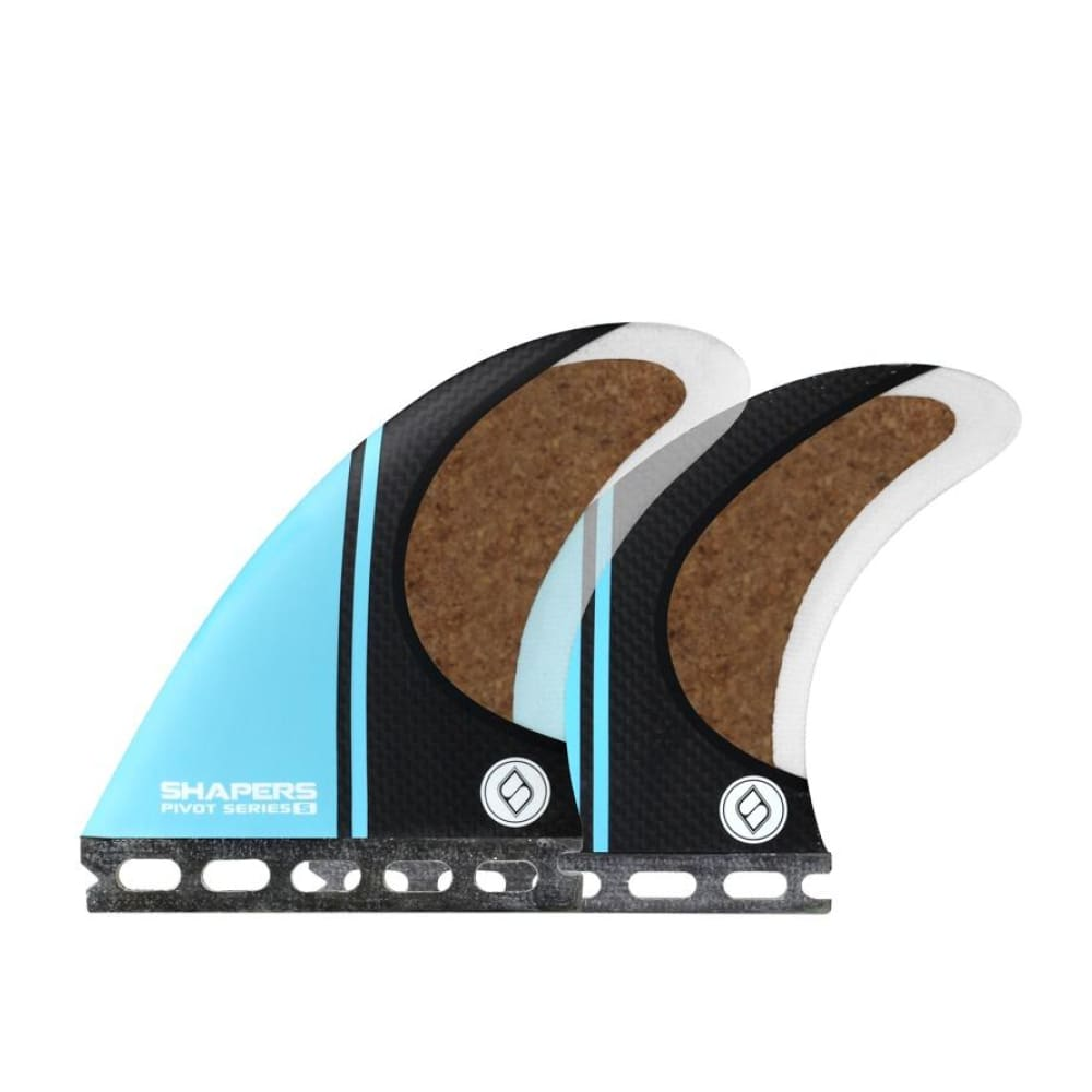 Shapers Stealth Pivot Thruster Fins - Small (Blue) - Shapers - Thruster Fins