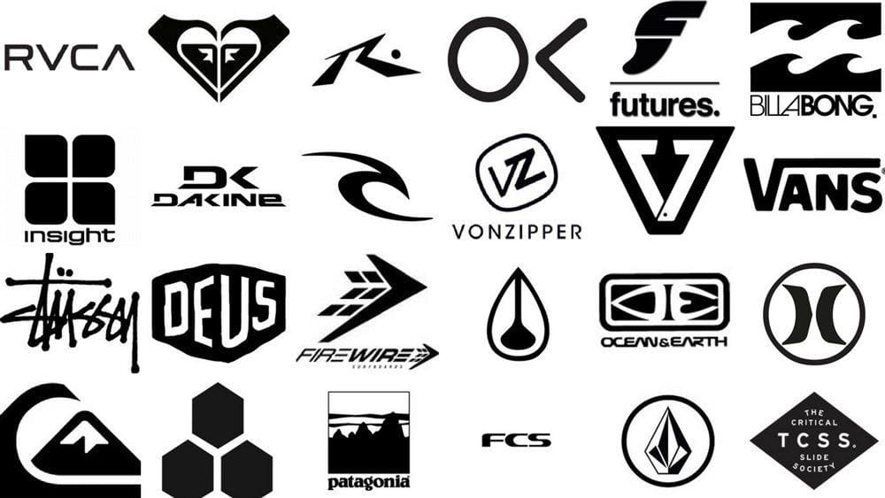 Different surfing brands