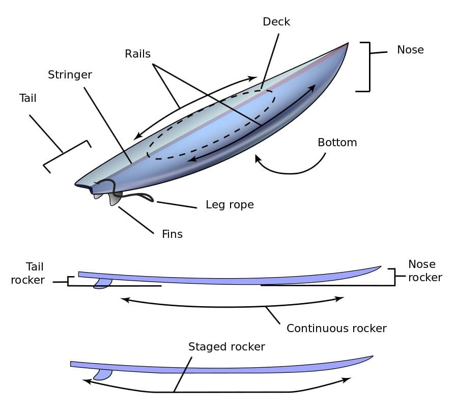 understanding the parts of a surfboard surf nation