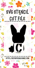 Bunny Rabbit Alphabet Stencil SVG JPEG Cut File Bundle Personal Use Only 26 Letters/Initials/Monograms