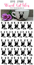 Deer Alphabet Stencil SVG JPEG Cut File Bundle Personal Use Only 26 Letters/Initials/Monograms