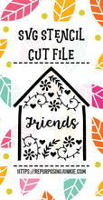 Friends Embellished House Stencil SVG JPEG Cut File Personal Use Only