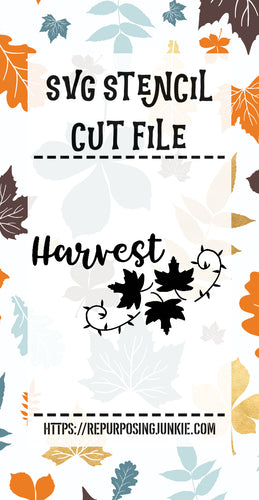 Harvest Leaf Laurel Stencil SVG JPEG Cut File Personal Use Only