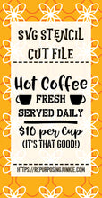 Hot Coffee SVG JPEG Stencil Cut File Personal Use Only