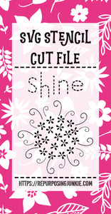 Sun Shine Flowers Leaves Stencil SVG JPEG Cut File Personal Use Only
