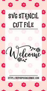 Welcome 2 Stencil SVG JPEG Cut File Personal Use Only