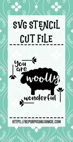 You Are Woolly Wonderful Sheep Stencil SVG JPEG Cut File Personal Use Only