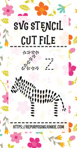 Alphabet Animal Objects Stencil SVG JPEG Cut File Bundle Personal Use Only 26 Letters/Initials
