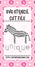Zebra Unique Flowers Leaves Stencil SVG JPEG Cut File Personal Use Only
