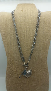 Stunning Labradorite with Hill tribes Silver necklace