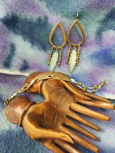 09/16/2020 Boho Feather Earrings and Bracelet Set making!
