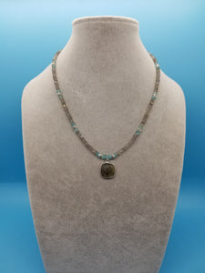 Labradorite and Aquamarine Necklace