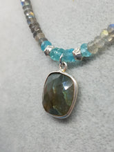 Load image into Gallery viewer, Labradorite and Aquamarine Necklace