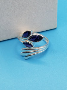 Iolite Sterling Silver Ring Size 8